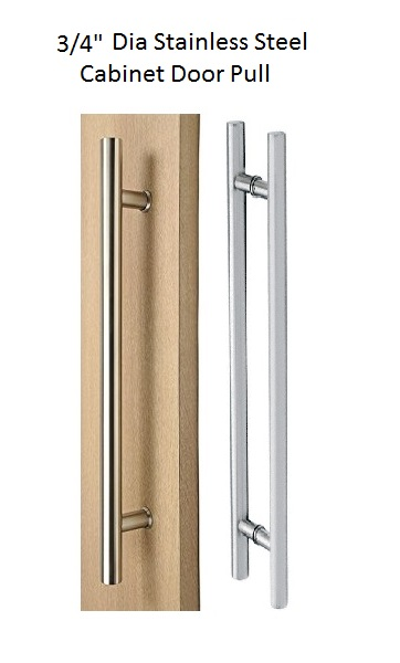 046-Slim Series- Stainless Steel Cabinet Door Pull