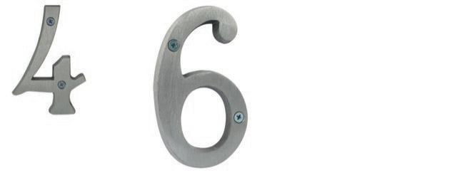 Brushed Aluminum Numbers