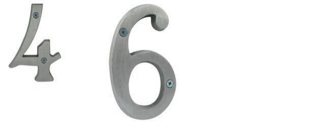 Brushed Aluminum Numbers