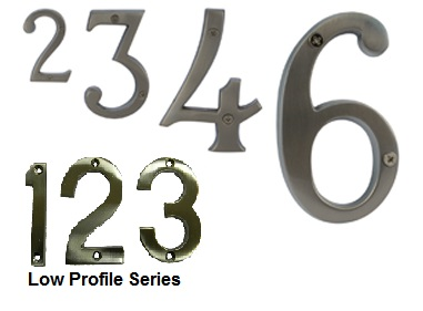 Brushed Chrome Numbers