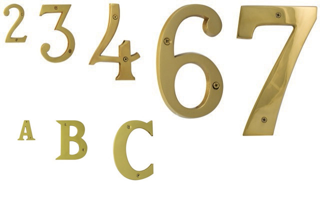 Brass Numbers & Letters