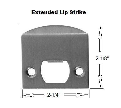 Ext Lip Strike Plate